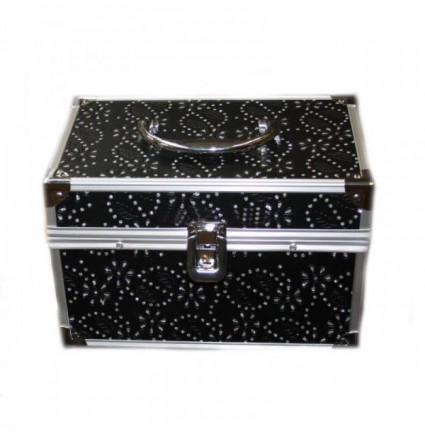 Crystal small cosmetic bag - BLACK