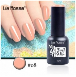 ГЕЛ ЛАК LILA ROSSA MAGIC - 3 in 1 Gel No. 08