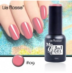 ГЕЛ ЛАК LILA ROSSA MAGIC - 3 in 1 Gel No. 09