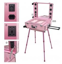Портативна грим станция - розов цвят
